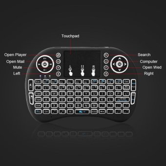 2.4GHz Wireless Air Mouse Backlight Keyboard for PC Laptop - intl