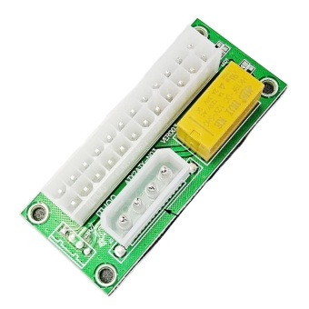24Pin Dual Power Supply Synchronous Start Board Multiple add2PSUAdapter - intl Price Philippines
