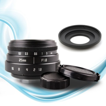 25mm f1.8 CC TV TV Lens + C mount Lens to Fuji FX Nex CameraAdapter + Lens Front and Rear Cap - intl Price Philippines