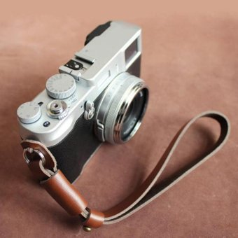 26cm PU Leather Camera Wrist Strap Camera Lanyard For Sony SLRCameras(brown) - intl