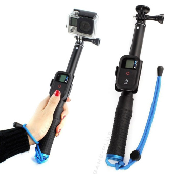29CM Extendable Monopod with Remote Pole for GoPro Hero 1 2 3 3+ 4(Black) - intl