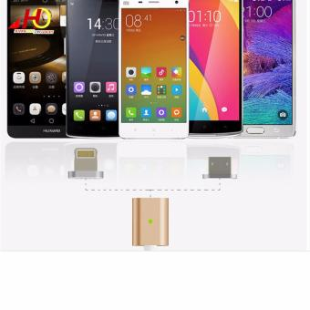 2in1 Magnetic Lightning and Micro USB Nylon Cable for iOs & Android (Gold) - 4