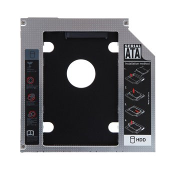 2nd 9.5mm SATA HDD SSD Hard Drive Caddy Bay for MacBook - Intl