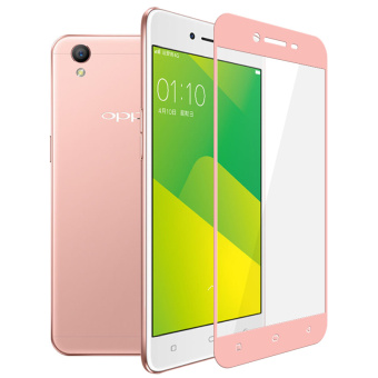 2pcs BYT Full Cover Tempered Glass for Oppo A37, Premium 9H Hardness 0.3mm Electroplated Screen Guard Protector Film (Rose Gold)