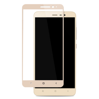 2pcs BYT Full Cover Tempered Glass for Xiaomi Redmi Note 3 / RedmiNote 3 Pro, Premium9H Hardness 0.3mm Electroplated Screen GuardProtector Film (Gold)