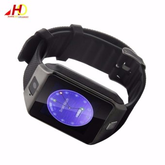2PCS DZ09 Smart Watch Quad Phone Bluetooth Touch Screen (Grey) - 2