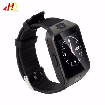 2PCS DZ09 Smart Watch Quad Phone Bluetooth Touch Screen (Grey) - 4
