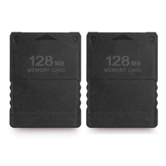 2x 128MB Memory Card for Sony PlayStation 2 PS2 128M Black