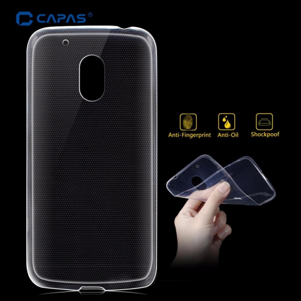 2x CAPAS Clear Transparent Flexible TPU Silicone Anti-watermark Protective Skin Shell for Motorola Moto