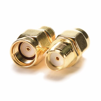 2x RP-SMA Female Jack to SMA Male Plug Straight RF Coaxial Adapter Connector - intl