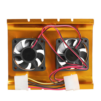3.5 Inch Dual Cooling Fan Hard Disk Driver HDD Cooler for PC SATA IDE - picture 2