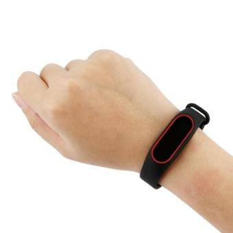 3-Black 3PCS Silicone Wrist Strap for Xiao Mi Band 2 Tracker - intl - 5