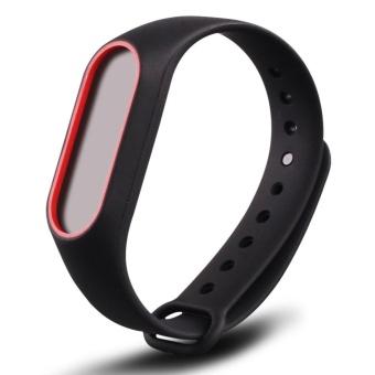 3-Black 3PCS Silicone Wrist Strap for Xiao Mi Band 2 Tracker - intl - 4