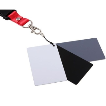 3 in 1 Digital Grey Card White Black 18% Gray Color White Balance +Strap - intl Price Philippines