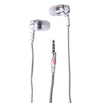 3 in 1 In - Ear Headphone with Mic and Answering Call Function(White)