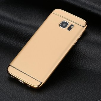 3 in 1 PC Protective Back Cover Case For Samsung S7 Edge (Gold) -intl