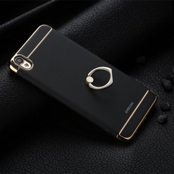 3 in 1 PC Protective Back Cover Case With Metal Ring For Oppo A37 (Black