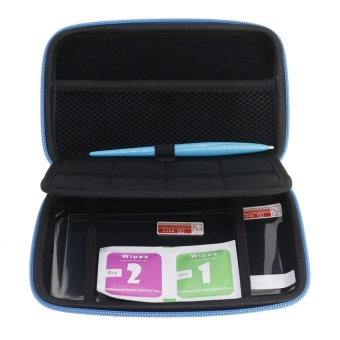 3 in 1 Protective Kit Including 1 Carrying Storage Case Bag 1Stylus 2 Screen Protectors for Nintendo New 2DS XL LL - intl