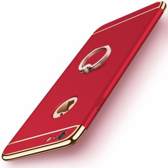 3 in 1 Ultra Slim Metal Hybrid Anti-skidding Hard PC Back Case Cover With Ring Kickstand for Apple iPhone 6S Plus/ 6 Plus(Red) - intl