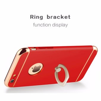 3 in 1 Ultra Slim Metal Hybrid Anti-skidding Hard PC Back Case Cover With Ring Kickstand for Apple iPhone 6S Plus/ 6 Plus(Red) - intl - 3