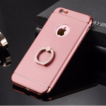 3 in 1 Ultra Slim Metal Hybrid Anti-skidding Hard PC Back Case Cover With Ring Kickstand for Apple iPhone 6S Plus/ 6 Plus(Rose Gold) - intl
