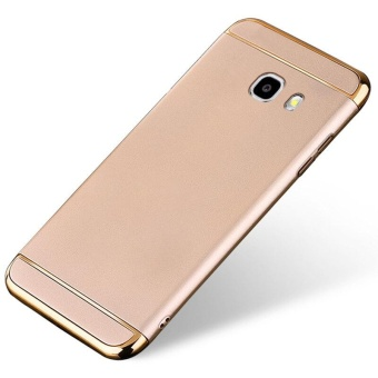 3 In 1 Ultra Thin and Slim Hard Case Coated Non Slip Matte Surface with Electroplate Frame for Samsung Galaxy A7 2017 / A720 (Gold) - intl Price Philippines