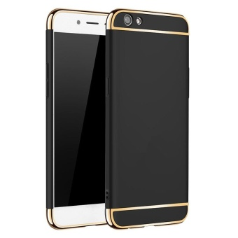3 In 1 Ultra Thin and Slim Hard Case Coated Non Slip Matte Surface with Electroplate Frame for Vivo V5 Lite / Y66 (Black) - intl Price Philippines