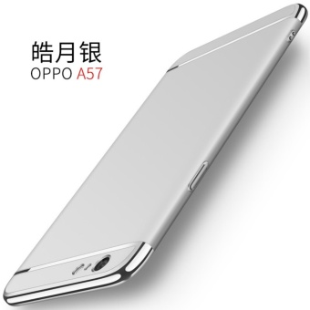 3 in 1 Ultra thin PC hard cover case phone case for OPPOA57/A39(Silver) - intl