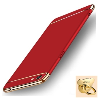 3 in 1 Ultra thin PC with Bear Ring hard cover case phone case for Oppo F3 Plus(Red) - intl