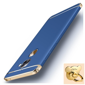 3 in 1 Ultra thin PC with Bear ring hard cover case phone case forLetv Le 2/2S(Blue) - intl