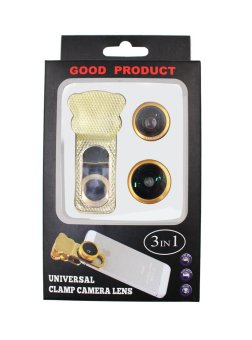 3-in-1 Universal Clamp Camera Lens (Gold) - picture 2