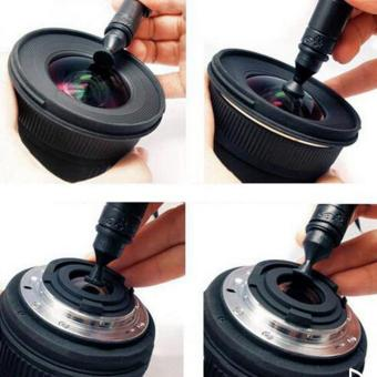 3 in1 Camera Lens Cleaner Clearing kit set Cloth Air Blower brush - 3