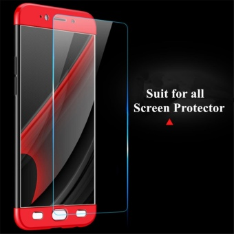 3 in1 Full Cover Case For Huawei P10 Black+Red - intl - 3