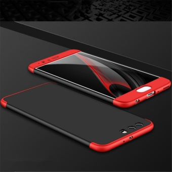 3 in1 Full Cover Case For Huawei P10 Black+Red - intl - 4