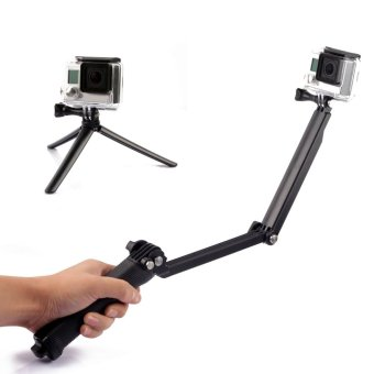 3 Way Extendable Monopod Pole With Tripod Adapter for GoPro