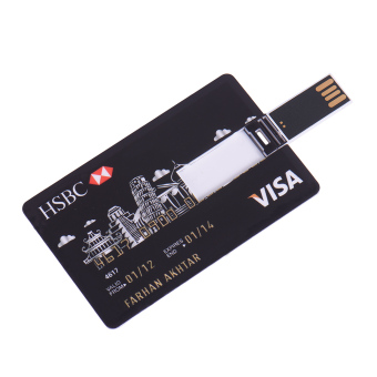 32GB credit card USB Flash Drive Shockproof Pen drive pendrive personalized memory storage Thumb Stick - Intl - 2