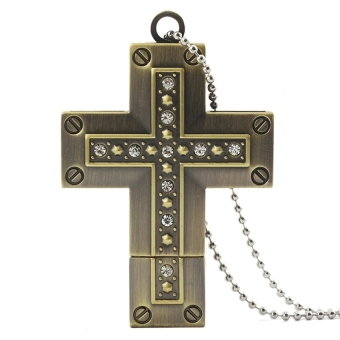 32GB Necklace The Cross USB 3.0 Flash Memory Drive Stick Pen Thumb U Disk - Intl