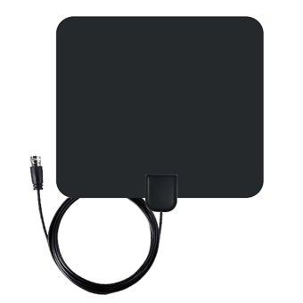 35 Miles Range F Male Connector Ultra-thin Digital Indoor TV HDTVAntenna with High Signal Capture of Coaxial Cable - intl Price Philippines