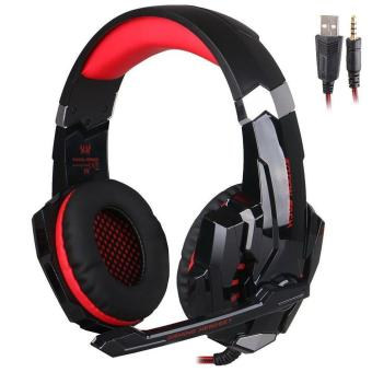3.5mm Stereo Pro Gaming Headset LED Headphone With MIC For PS4 PC Laptop - intl