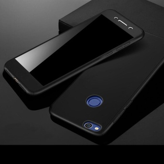 360 Degree All-around Full Body Hybrid Slim Acrylic HardCase+Tempered Glass Screen Protector for Huawei P8 Lite 2017(Black)- intl