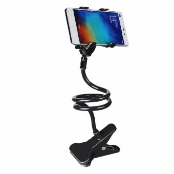 360 Degree Flexible Long Arms Mobile Phone Holder Lazy pod withClip (Black)