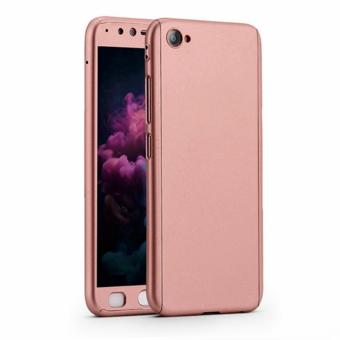 360 Degree Full Body Armor Case for Vivo V5 (Rose Gold) with FreeTempered Glass