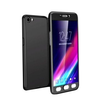 360 Degree Full Body Armor Case for Vivo Y55 (Black) with FreeTempered Glass