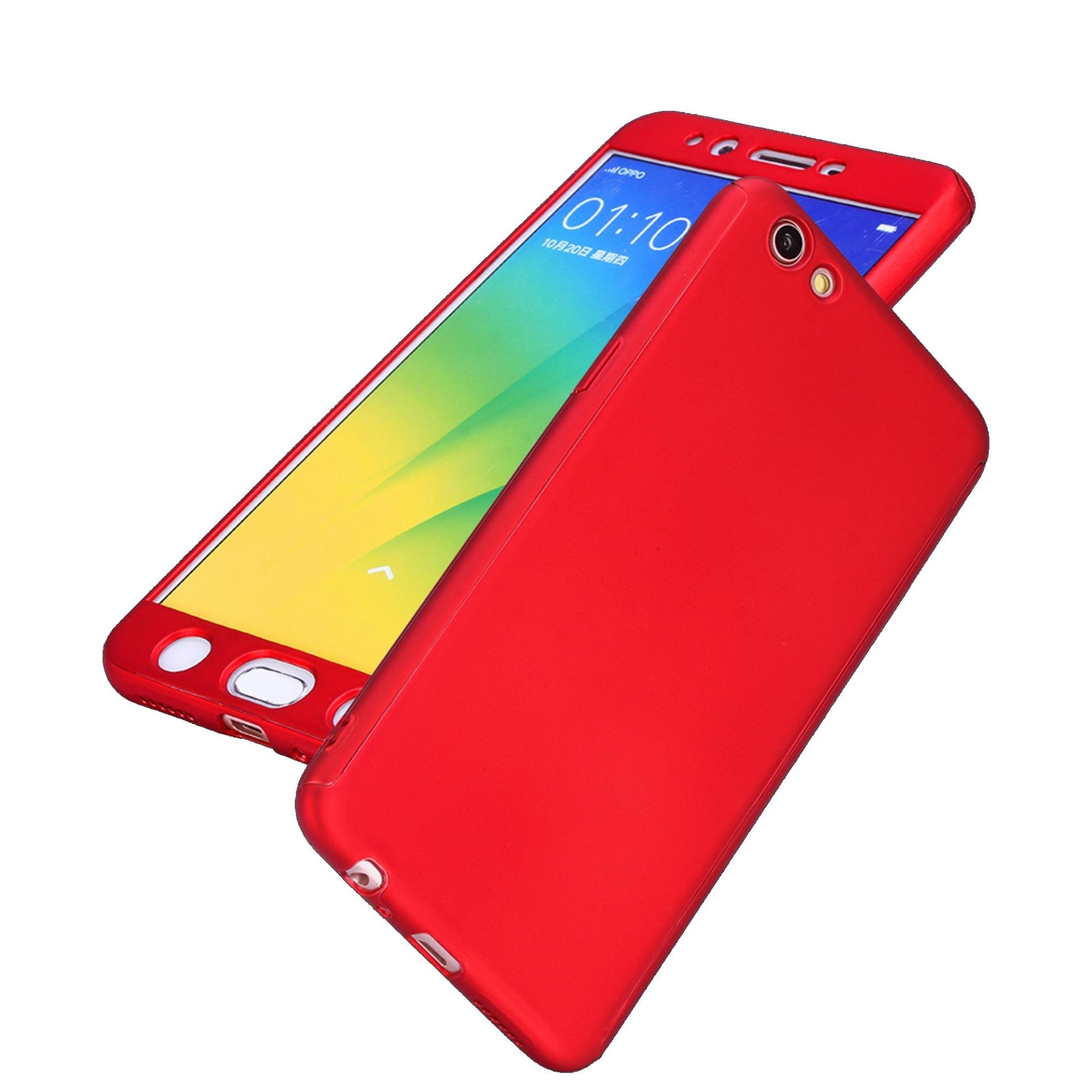 ... 360 Degree Full Body Armor Case With Free Tempered Glass for Oppo F3 (Red) ...