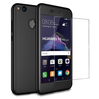 360 Degree Full-Body Case for Huawei P8 Lite 2017 / Honor 8 LiteHard Front and Back Protection Cover + Tempered Glass ScreenProtector - intl