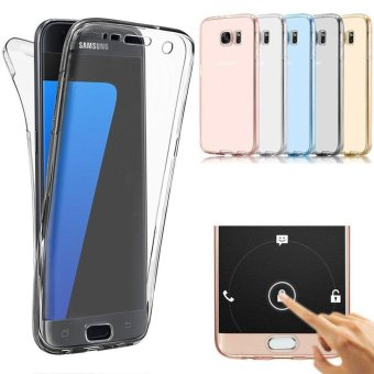 360 Degree Full Body Front and Back Cover Non-slip Shock-Absorption Protective Skin Shell Transparent Soft TPU Case for Samsung Galaxy S7 Edge - intl