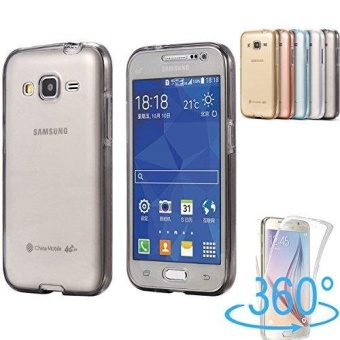 360 Degree Full Body Front and Back Cover Non-slip Shock-AbsorptionProtective Skin Shell Transparent Soft TPU Case for Samsung GalaxyGrand Prime( SM-G530) G5308 - intl