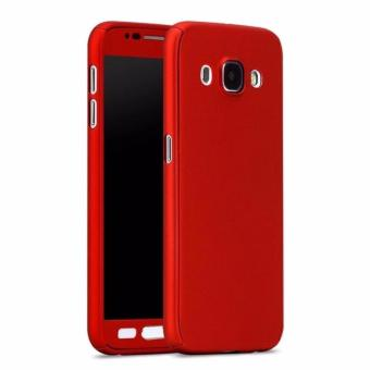 360 Degree Full Body Hard PC Protective Back Case With TemperedGlass For Samsung Galaxy J2 prime (Red) - intl Price Philippines