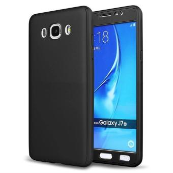 360 Degree Full Body Hard PC Protective Back Case With TemperedGlass For Samsung Galaxy J7 2015 (Black) - intl