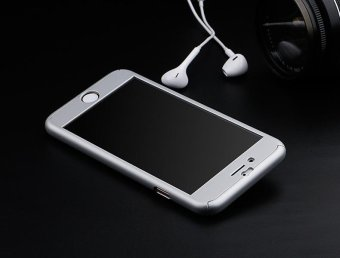 360 Degree Full Body Protect Hard Slim Case Cover with TemperedGlass for iPhone 5/5S/5C/SE Silver - intl - 5